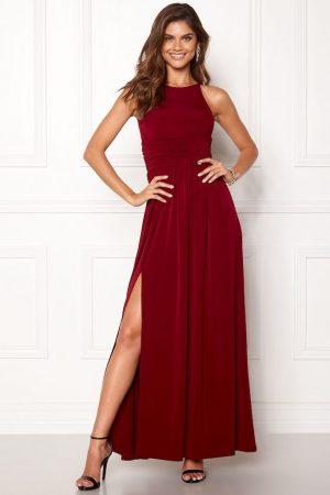 lang rød kjole