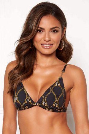 Trekant-bikini med vakre gullfargede dekorasjoner - TopLady