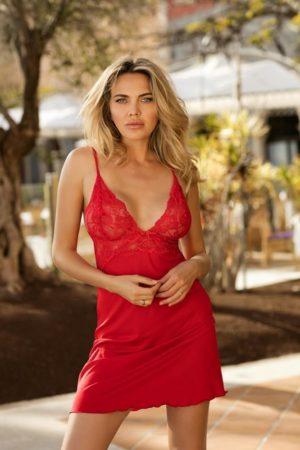 Rød nattkjole - TopLady