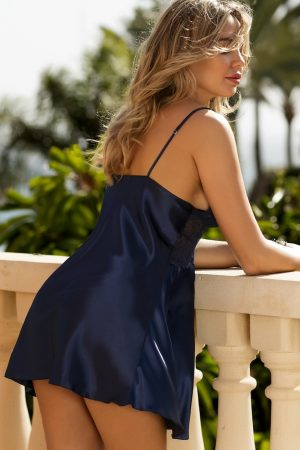 Marineblå nattkjole - TopLady
