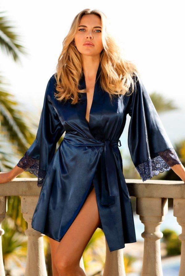 Marineblå kimono - TopLady